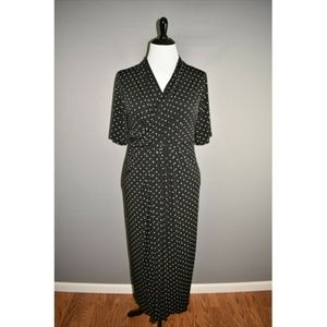 CATHERINE'S ANYWEAR Polka Dot Jersey Maxi Dress